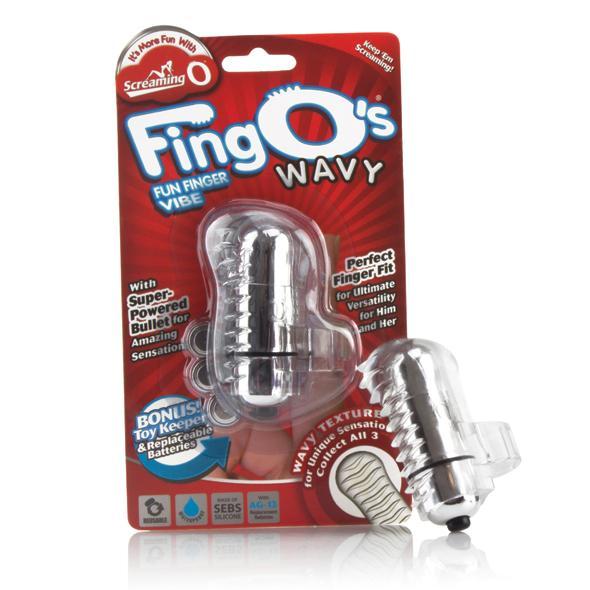 The Screaming O The FingO Wavy Transparant De Fing O is een krachtige kogelvibrator die comfortabel om de vinger wordt gedragen om de tepels, clitoris, testikels of andere erogene zones direct te kunnen stimuleren