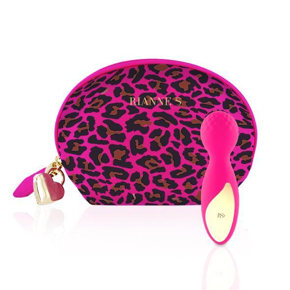 RS Essentials Lovely Leopard Mini Wand Massager De Lovely Leopard is een elegante, oplaadbare mini wand vibrator