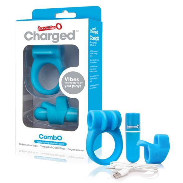 The Screaming O Charged CombO Kit Charged CombO Kit #1 is een alles-in-een kit voor plezier dat het makkelijk maakt om de beste oplaadbare sextoys te proberen die gemaakt zijn van hoogwaardige lichaamsveilige materialen voor een betaalbare prijs